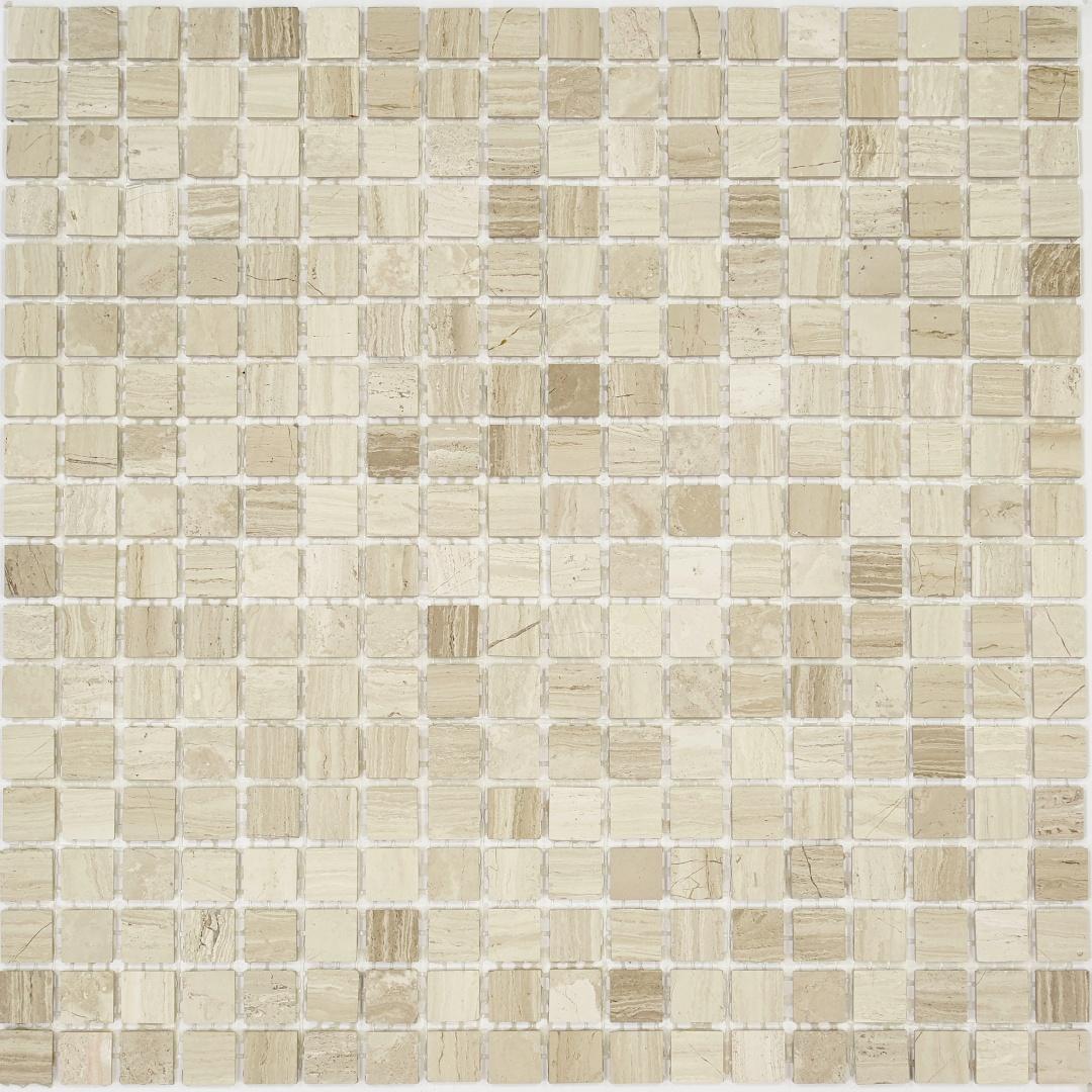 Мозаика Pietrine Travertino Silver POL 30062 15х15х4мм