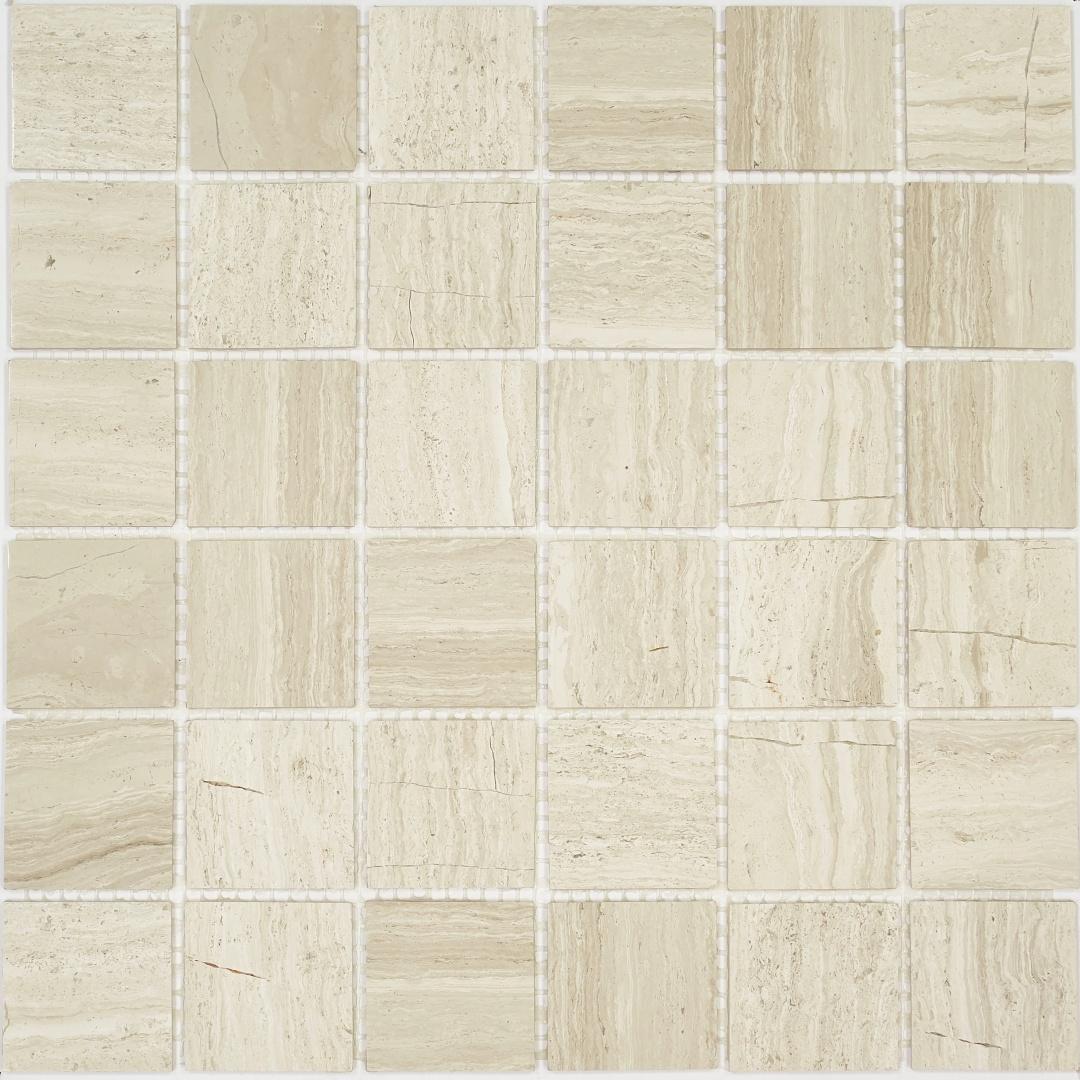 Мозаика Pietrine Travertino Silver POL 30066 48х48х4мм