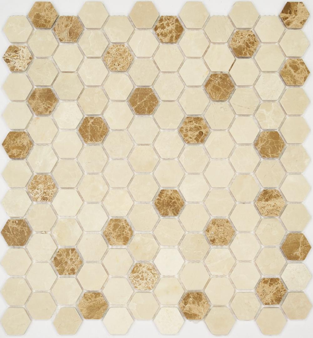 Мозаика Pietrine Hexagonal MIX 5 30123 25х25х6мм