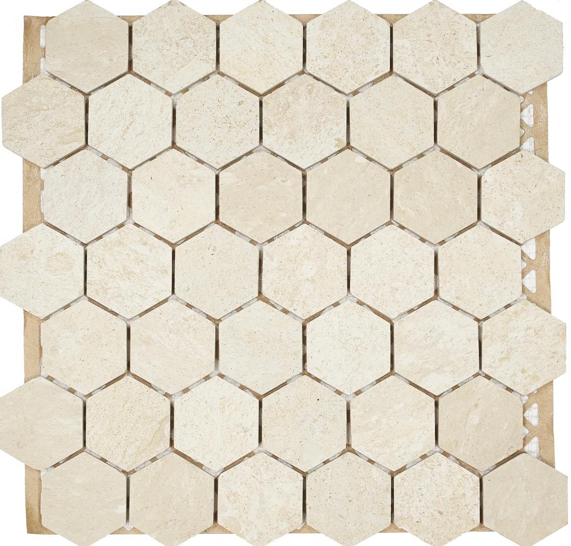 Мозаика Pietrine Biege Hexagon 30128 48х48х7мм