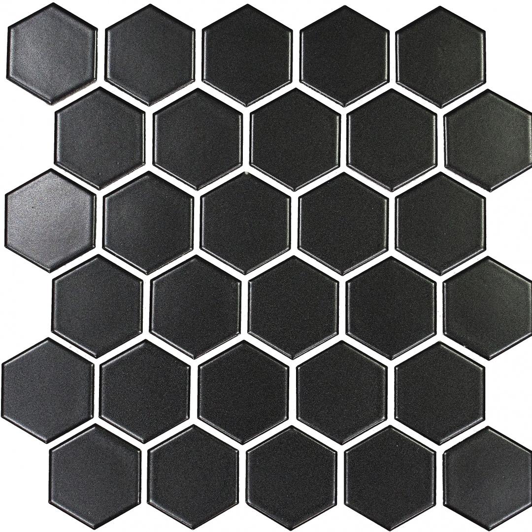 Мозаика L'Universo Dark Hexagon 30321 51х59х6мм