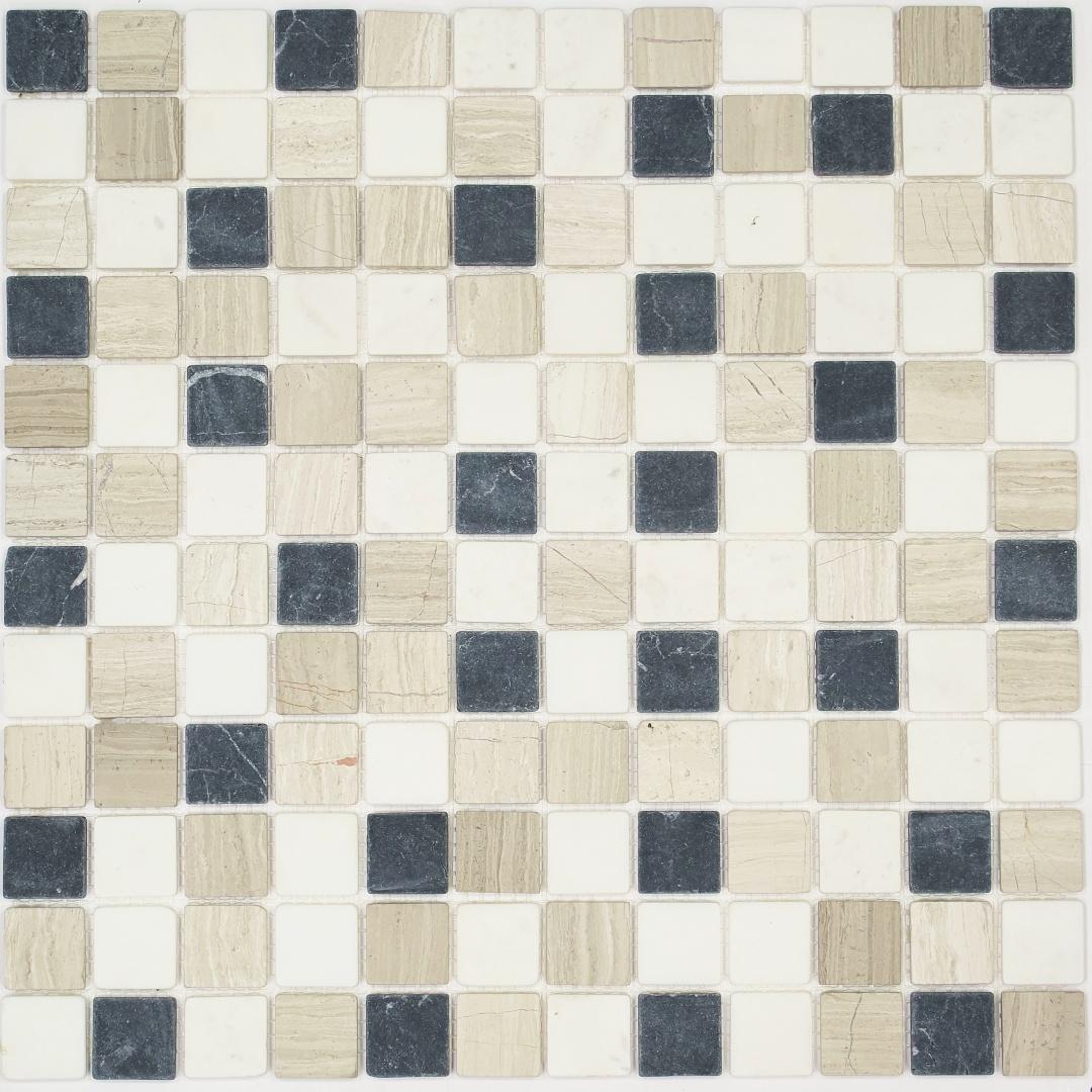 Мозаика MONTE MIX 4 MS-554  23х23х4мм