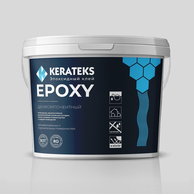 Эпоксидный кислото и щелочестойкий клей KERATEKS Epoxy